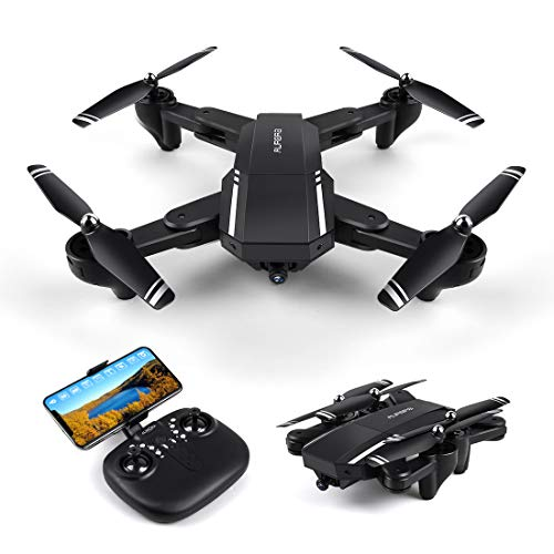 LBLA Drone with Camera Live Video,WiFi FPV Quadcopter with 120° Wide-Angle  720P HD Camera Foldable Drone RTF – Altitude Hold, One Key Take Off/Landing, 3D Flip, APP Control