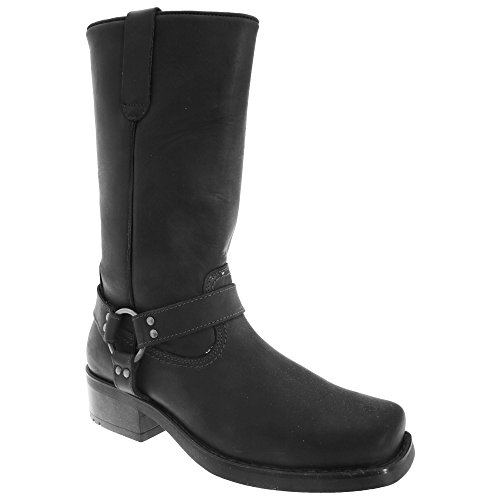 Black Leather High Gringos Boots Western Harness Harley Mens q0XwHvf