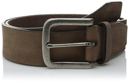 John Varvatos Embossed Belt (John Varvatos Star USA Men's 38mm Textured Belt, Chocolate,)