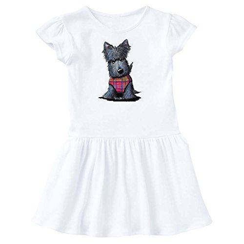 Scottie Dog Dress - inktastic - Scottie Dog in Plaid Toddler Dress 4T White - KiniArt 2e33