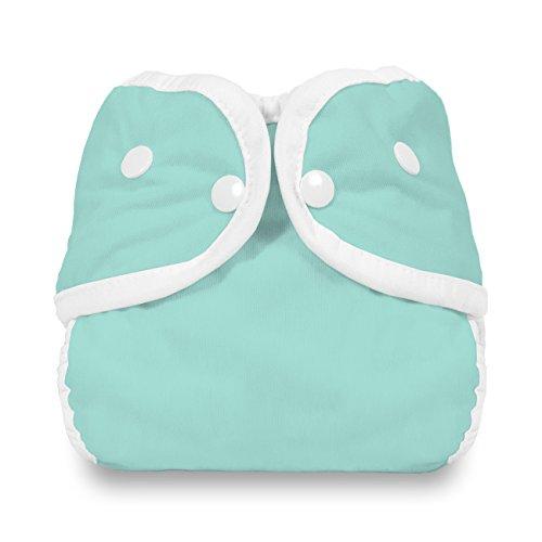 Thirsties Snap Diaper Cover, Aqua, X-Small ()