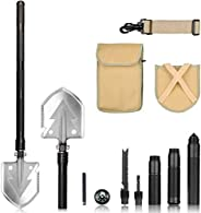 ITTA Outdoor Military Folding Shovel Multitool - Tactical Entrenching Tool with Case for Camping Backpacking H