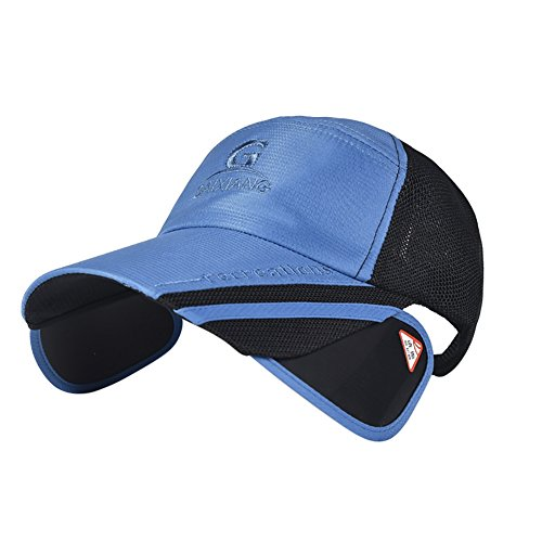 Bornbayb Unisex Summer Outdoor Baseball Cap UV Protection Sport Cap Fishing Hat with Retractable Visor