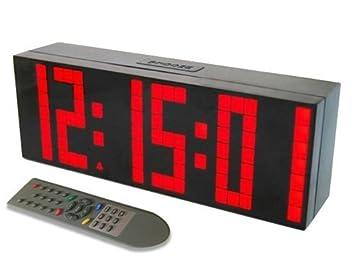 Despertador Reloj Grande de LED Cuenta reloj de pared temporizador Reloj LED Digital / Cuenta atrás / adelante Reloj con control remoto: Amazon.es: Hogar