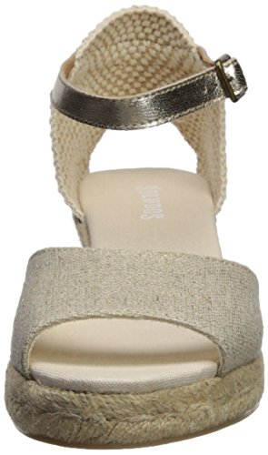 Open Wedge Soludos Platinum Sandal 70mm Toe Midwedge Women's Espadrille 4xxS5q6a