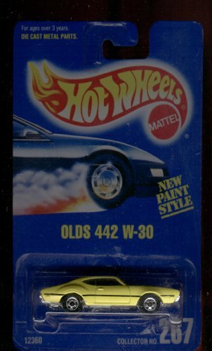 (1991 - Mattel - Vintage Hot Wheels - Olds 442 W-30 - 1:64 Scale Die Cast - New Paint Style - MOC - Out of Production - Limited Edition - Collectible)
