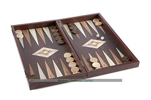 Manopoulos Walnut and Wenge Effect Backgammon Set