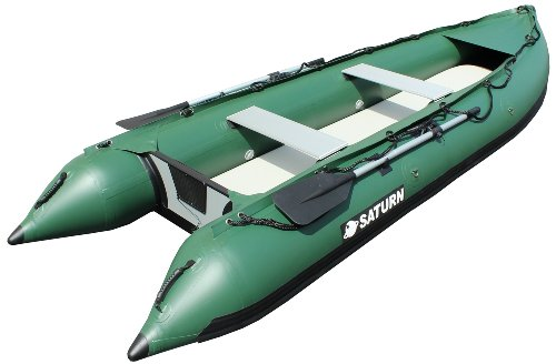 Saturn 13 ft Kaboat SK385Xl Green Extra Heavy-Duty Inflatable Boat Kayak Crossover