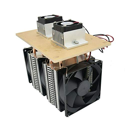 12V 12A 144W Electronic Semiconductor Refrigerator Radiator Air Cooling Equipment DIY Double Fan Kit by Northbear