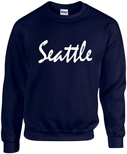 Adult Unisex Crewneck Size S (Seattle (Washington)) Novelty Sweatshirt
