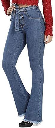 Calça Jeans Flare Boot Cut, Sawary Jeans, Feminina