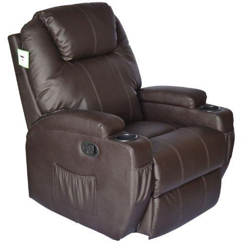HomCom Luxury Massage Sofa Leather Adjustable Recliner Chair Armchair (Brown)  sc 1 st  Amazon.ca & HomCom Luxury Massage Sofa Leather Adjustable Recliner Chair ... islam-shia.org