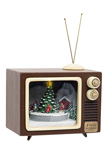 FAO Schwarz Lighted Holiday Musical Figurine TV 5.5 ()