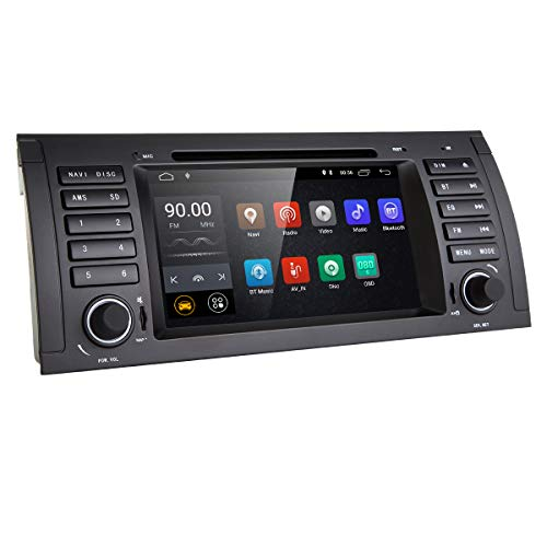in Dash 7 Inch Navigation Android 8.1 Car Stereo Quad Core Double Din Car DVD Player for BMW E39 E38 M5 X5 5 Series Support Car GPS Navigation Bluetooth 4G WiFi OBD2 DAB+ DTV TPMS