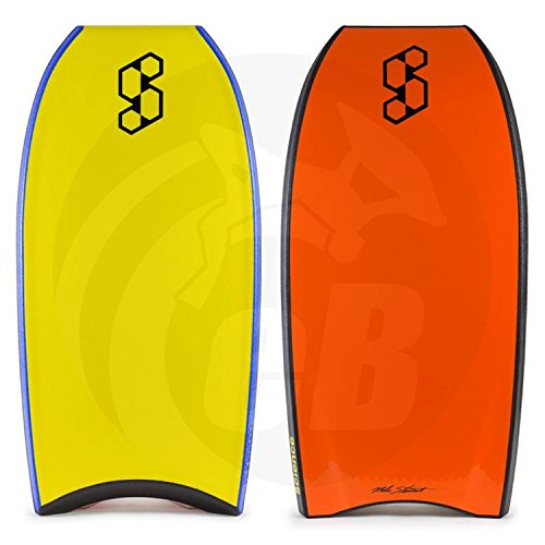 Yellow Boogie Board (Mike Stewart Science Hybrid 2018 Bodyboard 43 Yellow/Black/Orange)