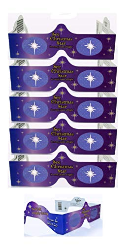 (3D Christmas Glasses - 5 Pack - Turn Holiday Lights Into Magical Images. See STARS For A Fun Christmas Experience.Our USA MADE Holiday Specs Are Perfect For Festivities!)