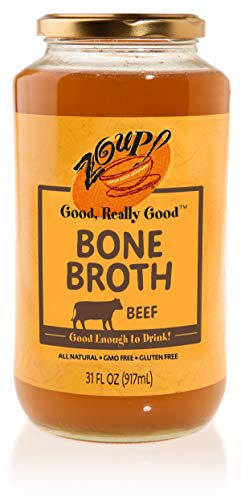 Beef Bone Broth by Zoup! - All Natural, Gluten Free, Non GMO, Fat Free Beef Bone (Best Epic Canned Beefs)