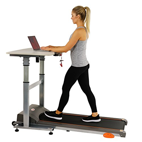 Sunny Health & Fitness Treadmill Desk Workstation Power Adjustable Table Height, SF-TD7704