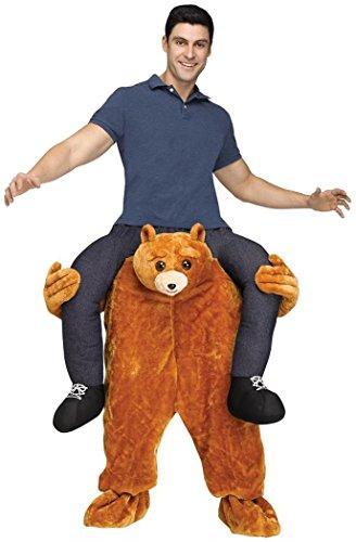Fun World Men's Carry Me Teddy Bear Adult Cstm, Multi Standard ()