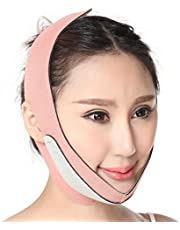 HEALLILY Thin Face Bandage V Line Face Strap Muscle Chin Reductor Bandage (Rosa)