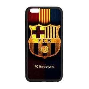 RAROFU Favorite Soccer Team FC Barcelona Custom Case for iPhone6 Plus 5.5 (Laser Technology)