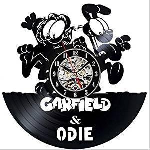 Cute dibujos animados Anime Europea carf - Odie Tocadiscos Reloj ...