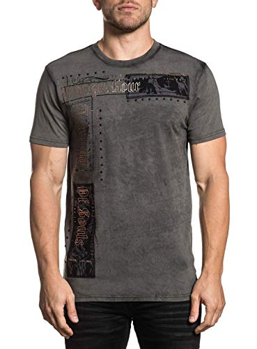 Affliction Men's Tornado Tee Shirt Vintage Black Resin Wash ()