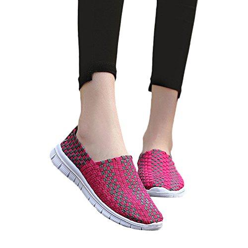 Ligero Sin Caliente Casuales Sneakers Zapatos Cordones 2018 Calzado Zapatillas Tejiendo Rosa Cinnamou Gimnasia Antideslizantes Moda Transpirables Mujer Verano Deportivos Loafers Primavera t6H8qxtwzE