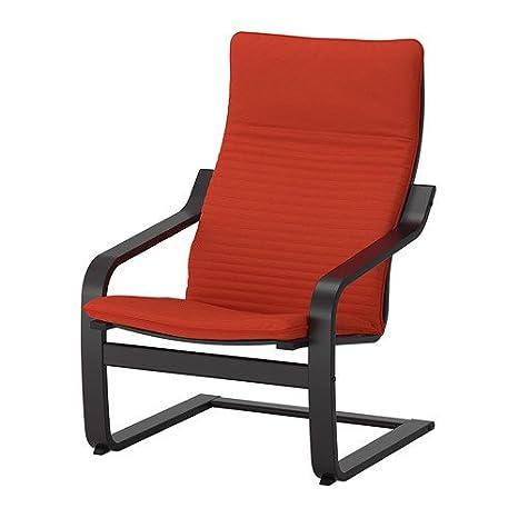 Amazon.com: IKEA POANG sillón con cojín, tapa y marco ...