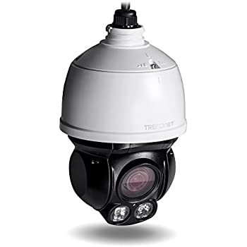 TRENDnet Indoor/Outdoor Speed Dome PoE IP Camera with 2 Megapixel 1080p Full HD Resolution, 4x Optical Zoom, 16x Digital zoom with Auto-Focus, IP66 Weather Rated Housing, 100 ft. Night Vision, Endless 360 degree Pan/ 80 Degree Tilt,  ideal for monitoring your Home/Large business remotely, Micro SD Card slot, Digital WDR, Secu, Free App for Android and IOS, ONVIF, IPv6 Compliant, TV-IP430PI