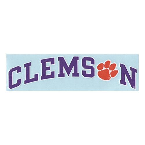 Clemson Tigers Decal - Arched Clemson Tigers With Paw (Arched Decal)