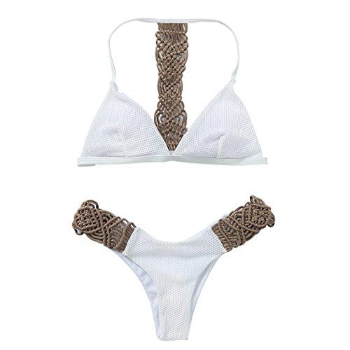 VENIMASEE Damen Hand häkeln Strickseil Bikini Mode Bikini ...