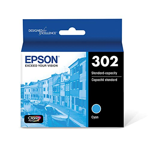 Epson T302 Claria Premium Standard-Capacity Ink Cartridge - Cyan