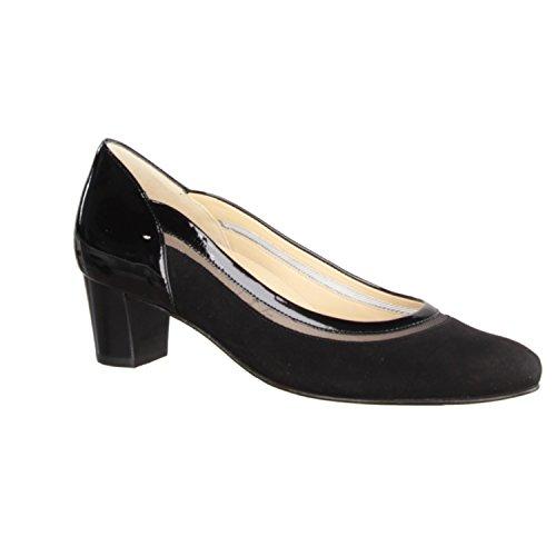 Hassia Rimini 304624-010 - Zapatos de mujer Top Tendencias, Negro, cabra de terciopelo - cuero, altura de tacón: 40 mm