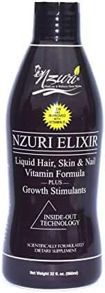 Nzuri Elixir - Liquid Hair Vitamin Plus Growth Stimulants - 32 Ounces