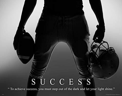 Apple Creek Football Motivational Poster Art Print 11x14 Success Pee Wee Pop Warner NFL College Sports Equipment Shoes Gloves (Football Mural)