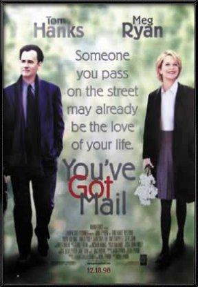 You've Got Mail - Framed Movie Poster / Print (Tom Hanks & Meg Ryan) (Size: 27