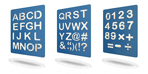 Large Alphabet Letter and Numeral Stencil Sets, rounded corners for home and Office, Easy and safe use. Quality durable flexible plastic. Additional Characters and Symbols. Lemogan, Get Yours NOW (Children Letter Stencils)
