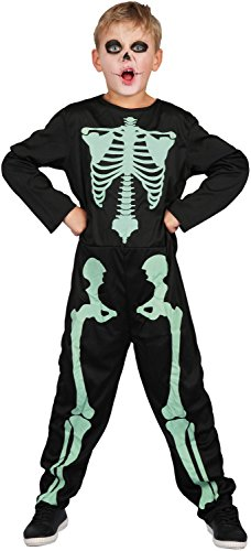 U LOOK UGLY TODAY Boys Halloween Costume X-Ray Skeleton for Kids Cosplay Dress Up Party Glow in The Dark ()
