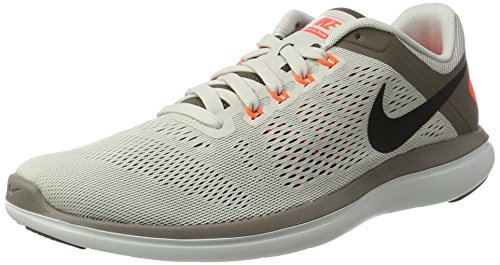 Nike Mens Flex 2016 RN Running Shoe Light Bone/Dark Mushroom/Hyper Orange/Black 8.5 D(M) US by NIKE (Image #1)