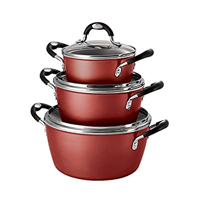 Tramontina 6-Piece Stackable Cookware Set, Amber