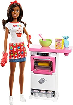 Barbie Bakery Chef Doll and Playset, Brunette