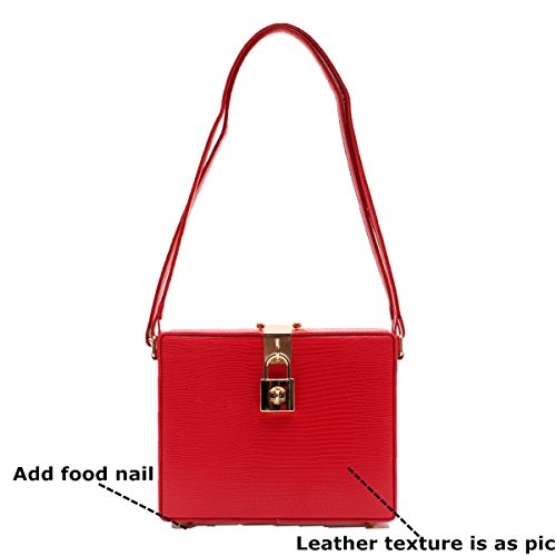 Women's Hard Handbag Zarapack Purse Zarapack Bag Case Women's Shoulder Red aqnfEFx