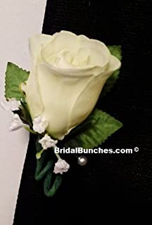 Ivory Boutonniere Prom Or Wedding Flowers Boutonnieres