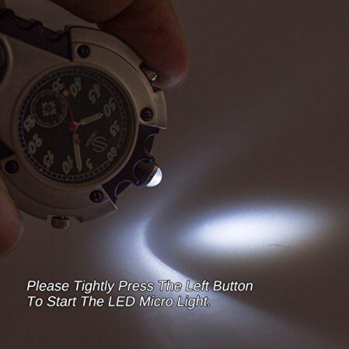 SIBOSUN Watch Company Mini Clip Microlight Nite Glow Luminous Clip on Pocket Watch Black by SIBOSUN (Image #3)