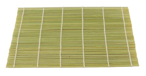 Helen's Asian Kitchen 97106 Sushi Mat, 9.5-Inches x 8-Inches, Natural - Bamboo Mat Rolling Sushi