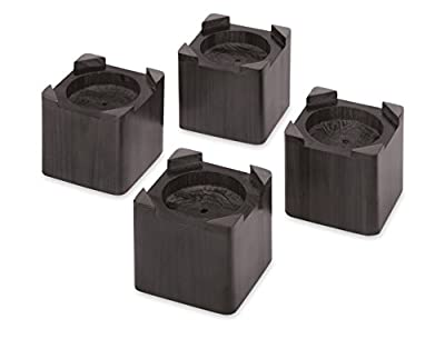 Whitmor Wood Bed Risers Set of 4 Espresso