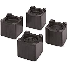 Whitmor Wood Bed Risers Espresso Set of 4