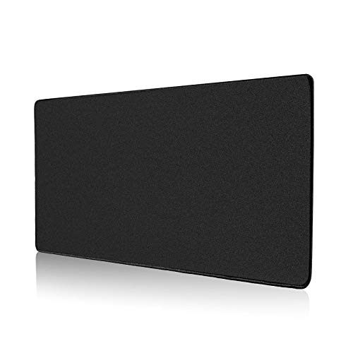 ALOANES Mouse Pad with Stitched Edge, Premium-Textured Mouse Mat, Non-Slip Rubber Base Mousepad for Laptop, Computer & PC,Desk Mat for Gamer, Office & Home,Black(23.62''x11.81''x0.08'')