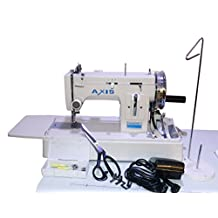 Portable Walking Foot Upholstery Leather Sewing Machine For Heavy Duty Vinyl Cushions Sunbrella - Zig Zag And Straight Stitch – Desk Handheld For Boat Canvas With Speed Foot Controller AXIS001WLZ